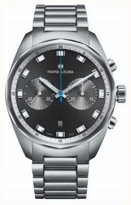 Favre Leuba Cronografo capo cielo | cinturino in acciaio inossidabile | quadrante nero 00.10202.08.11.20