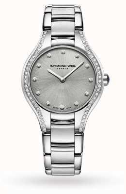 Raymond Weil Noemia delle donne | 64 diamanti | acciaio inossidabile | quadrante grigio 5132-STS-65081