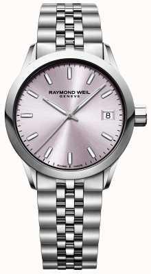 Raymond Weil Libero professionista femminile | bracciale in acciaio inossidabile quadrante rosa 5634-ST-80021