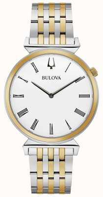 Bulova Mens | regata | bracciale in acciaio bicolore | 98A233
