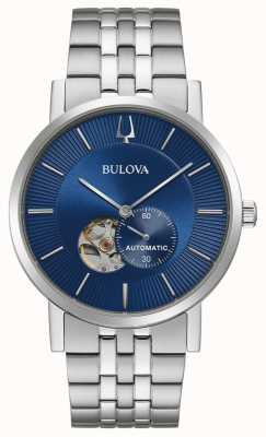 Bulova Clipper America | automatico | quadrante blu | acciaio inossidabile 96A247