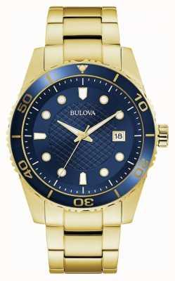 Bulova Sport | bracciale in acciaio inossidabile oro | quadrante blu 98A197