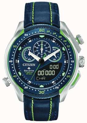 Citizen Promaster sst   ora mondiale   cinturino in pelle blu JW0138-08L