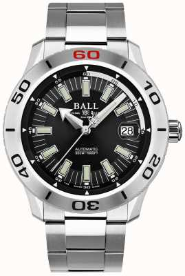 Ball Watch Company Fireman black necc | bracciale in acciaio inossidabile | quadrante nero DM3090A-S3J-BK