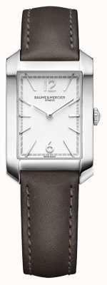 Baume & Mercier Lady hampton | quadrante argento opalino | cinturino in pelle liqourice M0A10471