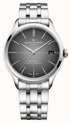 Baume & Mercier Clifton baumatic | certificato cosc | quadrante grigio ardesia | M0A10551