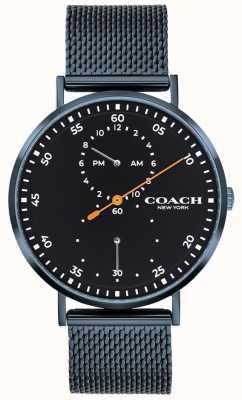Coach Orologio da polso a maglie blu Charles 14602478