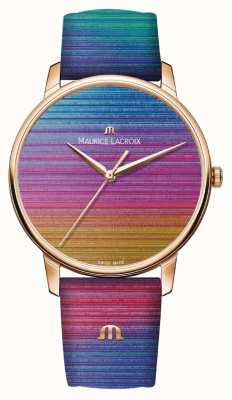 Maurice Lacroix Eliros rainbow limited edition | cinturino in pelle arcobaleno EL1118-PVP01-090-1