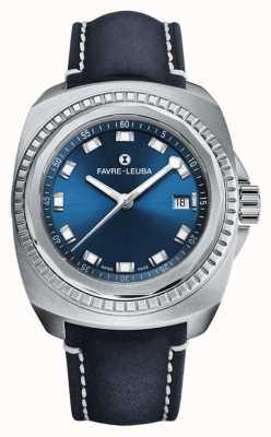 Favre Leuba Raider sea king | quadrante blu | pelle di antilope blu 00.10107.08.51.46