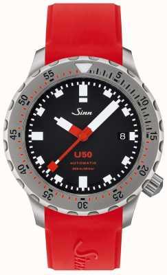 Sinn U50 | orologio subacqueo in silicone rosso 1050.010 RED STRAP