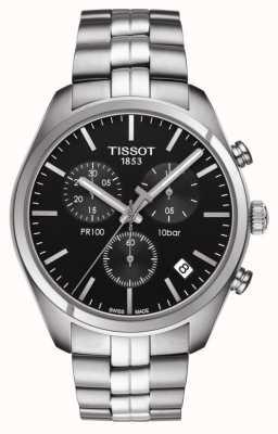 Tissot Pr 100 | cronografo | quadrante nero T1014171105100