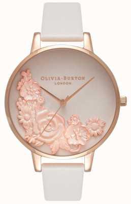 Olivia Burton Quadranti rosa | cinturino in pelle blush | quadrante floreale OB16FS85
