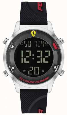 Scuderia Ferrari Digitrack maschile | cinturino in caucciù nero | quadrante digitale nero 0830756