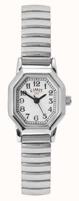 Limit Bracciale da donna in acciaio inossidabile quadrante bianco / argento 60122.38