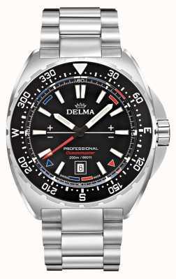 Delma Quarzo oceanmaster | bracciale in acciaio inossidabile quadrante nero 41701.676.6.038