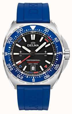 Delma Quarzo oceanmaster | cinturino in caucciù blu | quadrante nero 41501.676.6.048