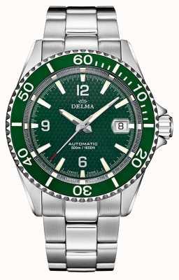 Delma Santiago automatico | bracciale in acciaio inossidabile quadrante verde 41701.560.6.144