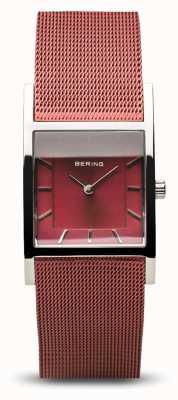 Bering Classico da donna | argento lucido | bracciale a maglie blu 10426-303-S