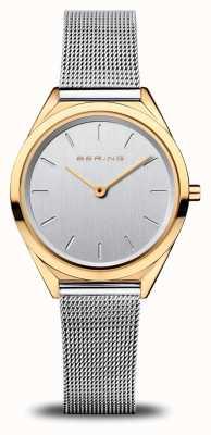 Bering Ultra slim da donna | braccialetto a maglie d'argento | oro lucido 17031-010