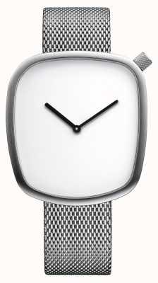 Bering Classic | ghiaia | argento spazzolato | quadrante quadrato | maglia d'argento 18040-004