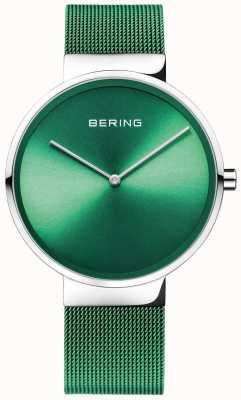 Bering Classico | cinturino in rete verde | quadrante verde 14539-808