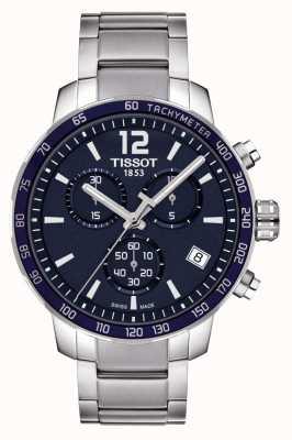 Tissot Cronografo Quickster con quadrante blu T0954171104700