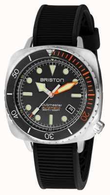 Briston Clubmaster diver pro steel | cinturino in caucciù nero | quadrante nero 20644.S.DP.35.RB