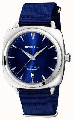 Briston Auto iconica Clubmaster | cinturino nato blu | quadrante blu 19640.PS.I.9.NNB