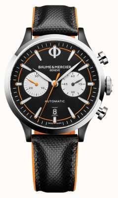 Baume & Mercier Capeland | uomo | automatico | pelle nera | quadrante nero M0A10451