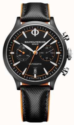 Baume & Mercier Capeland | uomo | automatico | pelle nera | quadrante nero M0A10452