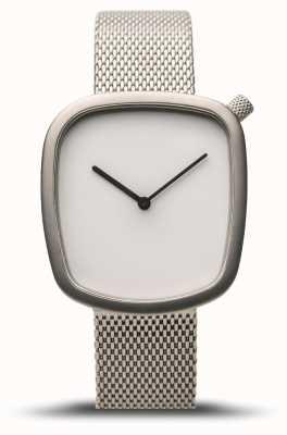 Bering Classico | ghiaia | argento spazzolato | maglia d'argento | quadrante bianco 18034-004