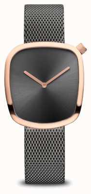 Bering Classico | ghiaia | bracciale a maglie grigie | quadrante grigio 18034-369