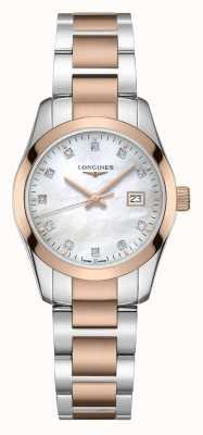 Longines Conquest classic | delle donne | quarzo svizzero | due toni L22863877