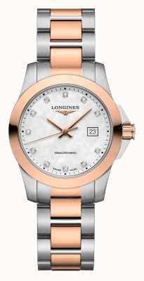 Longines | conquista classico | delle donne | quarzo svizzero | due toni L33763887