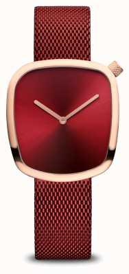 Bering Classico | oro rosa lucido | maglia rossa 18034-363