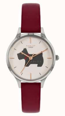 Radley Luogo Meridan | cinturino in pelle rossa | quadrante motivo cane RY2973