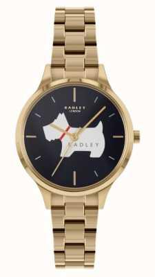 Radley Luogo Meridan | bracciale in acciaio dorato | quadrante blu RY4520