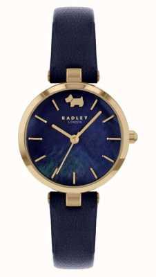 Radley Vista ovest | cinturino in pelle blu scuro | quadrante blu marino RY2972