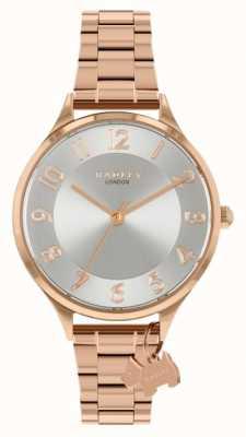 Radley Strada sassone | bracciale in acciaio oro rosa | quadrante argentato RY4506