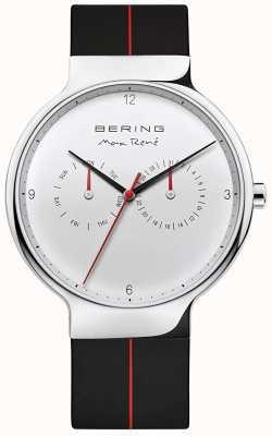 Bering Max rené | cinturino in caucciù nero | quadrante argentato 15542-404