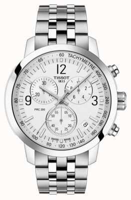 Tissot Prc 200   cronografo   quadrante argento   acciaio inossidabile T1144171103700