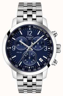 Tissot Prc 200 | cronografo | quadrante blu | cinturino in acciaio inossidabile T1144171104700