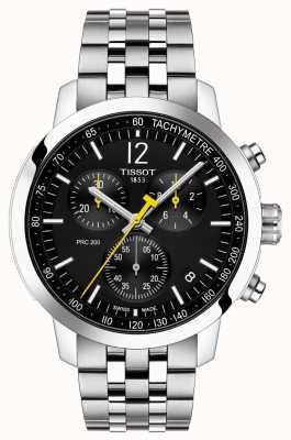 Tissot Prc 200 | cronografo | quadrante nero | acciaio inossidabile T1144171105700