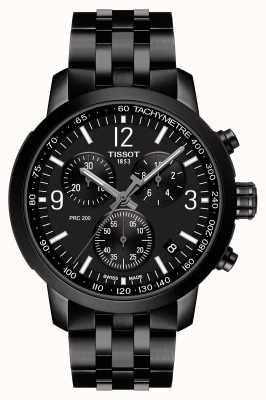 Tissot Prc 200 | cronografo | quadrante nero | acciaio pvd nero T1144173305700
