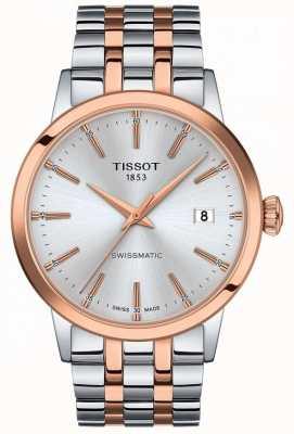 Tissot Swissmatic   quadrante argento   bracciale in acciaio inossidabile bicolore T1294072203100