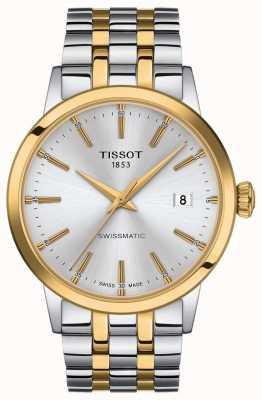Tissot Swissmatic   quadrante argentato bracciale in acciaio inossidabile bicolore T1294072203101