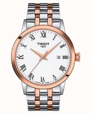 Tissot Sogno classico   quadrante bianco   acciaio inossidabile bicolore T1294102201300