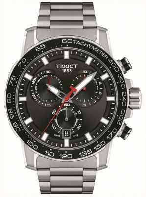 Tissot Crono Supersport | quadrante nero | bracciale in acciaio inossidabile T1256171105100