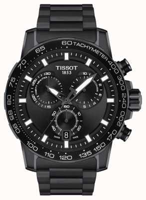 Tissot Crono Supersport | quadrante nero | bracciale in acciaio pvd nero T1256173305100