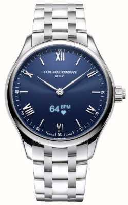 Frederique Constant Mens | vitalità | smartwatch | quadrante blu | acciaio inossidabile FC-287N5B6B